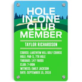 Golf Metal Wall Art Panel - Custom Hole In One