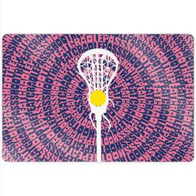 "Girls Lacrosse 18"" X 12"" Aluminum Room Sign - Mantra Spiral"