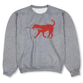 Baseball Crew Neck Sweatshirt - Buddy The Baseball Dog