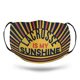 Girls Lacrosse Face Mask - Lacrosse Is My Sunshine