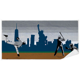 Baseball Premium Beach Towel - Go for the Home Run NYC