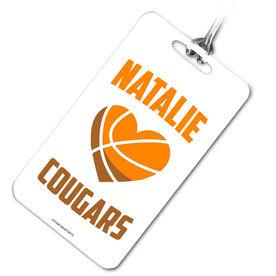 Basketball Bag/Luggage Tag Heart Basketball