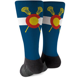 Guys Lacrosse Printed Mid-Calf Socks - Colorado