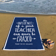 Personalized Premium Beach Towel - Teacher Never Be Erased