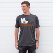 Football T-Shirt Short Sleeve Eat. Sleep. Football.