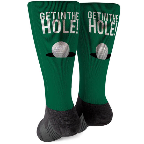 Golf Printed Mid-Calf Socks - Get In The Hole