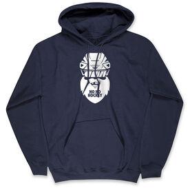 Hockey Hooded Sweatshirt - Ho Ho Santa Face