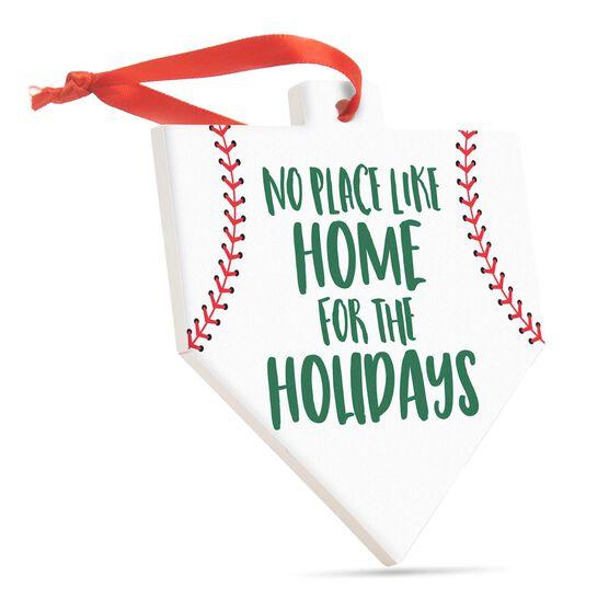 Baseball Home Plate Ceramic Ornament - No Place Like Home