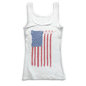 Hockey Vintage Fitted Tank Top - American Flag Sticks