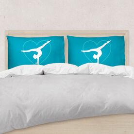 Gymnastics Pillowcase - Personalized Heart