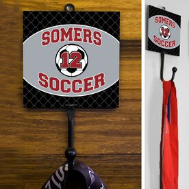 Soccer Hook Personalized Soccer Team with Soccer Ball and Number