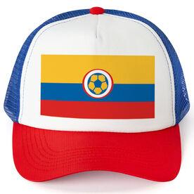 Soccer Trucker Hat - Colombia