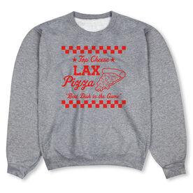 Lacrosse Crew Neck Sweatshirt - Lax Pizza