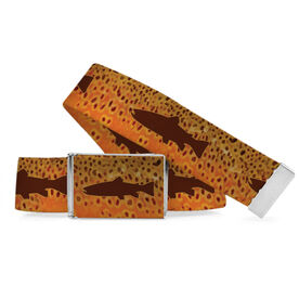 Fly Fishing Lifestyle Belt Brown Trout Silhouette