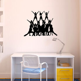 Cheer Pyramid Removable ChalkTalkGraphix Wall Decal