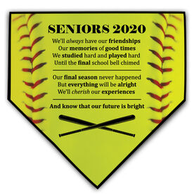 Softball Home Plate Plaque - Seniors 2020 Our Future Is Bright