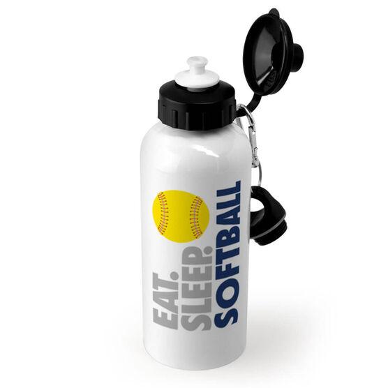 Softball 20 oz. Stainless Steel Water Bottle - Eat. Sleep. Softball.