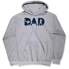Baseball Hooded Sweatshirt - Baseball Dad Silhouette