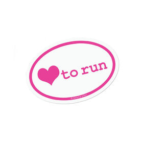 Love To Run Mini Car Magnet - Fun Size