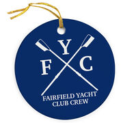 Crew Porcelain Ornament Crossed Oars