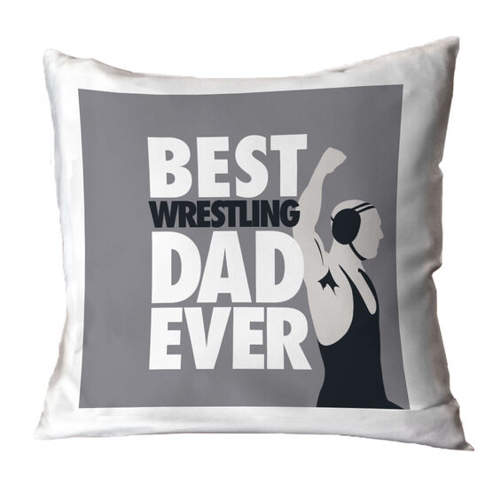 Wrestling Throw Pillow Best Dad Ever