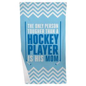 Hockey Beach Towel Tougher Than A Hockey Player