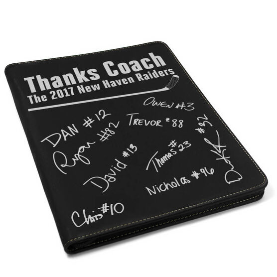 Hockey Executive Portfolio - Thanks Coach with Signatures