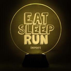 Running Acrylic LED Lamp Eat Sleep Run Repeat