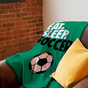 Soccer Premium Blanket - Eat. Sleep. Soccer. Vertical
