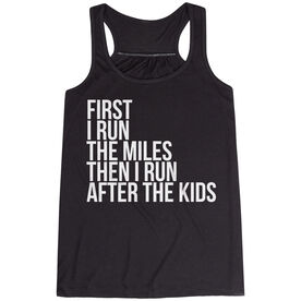 Flowy Racerback Tank Top - Then I Run After The Kids