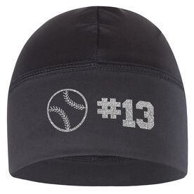 Beanie Performance Hat - Baseball Team Number