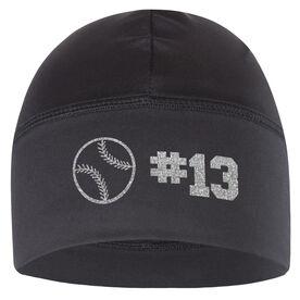 Beanie Performance Hat - Baseball Team Number