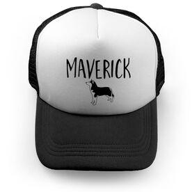 Personalized Trucker Hat - I Love My Husky