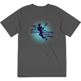 Girls Lacrosse Short Sleeve Performance Tee - Forget The Glass Slippers Lacrosse
