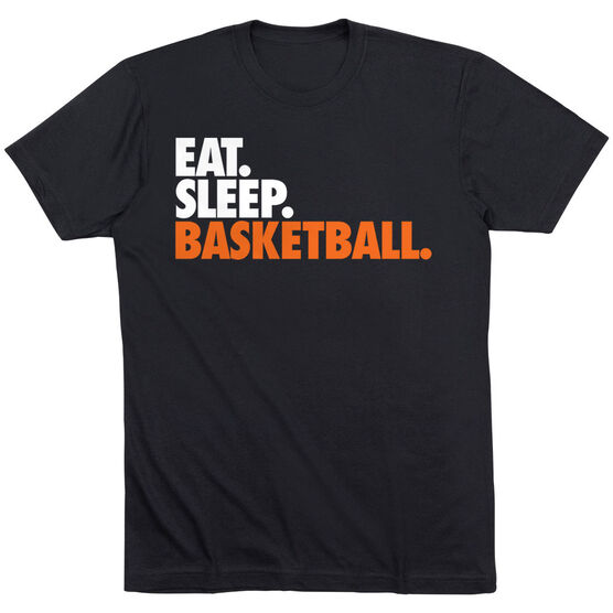 Basketball T-Shirt Short Sleeve Eat. Sleep. Basketball.