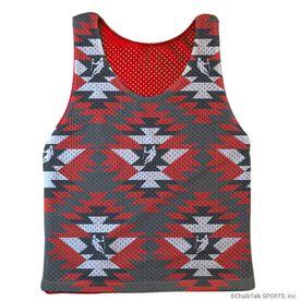 Guys Lacrosse Pinnie - Aztec (Red Interior)