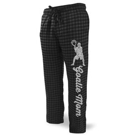Lacrosse Lounge Pants Goalie Mom with Silhouette