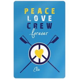 """Crew 18"""" X 12"""" Aluminum Room Sign Peace Love Crew Forever"""
