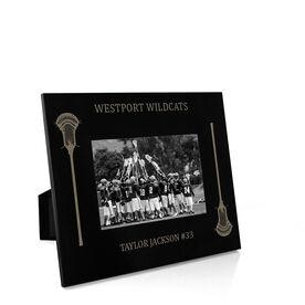 Guys Lacrosse Engraved Picture Frame - Side Sticks