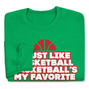 Basketball Crew Neck Sweatshirt (Special Edition) - Basketball's My Favorite
