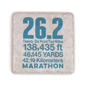 Running Stone Coaster - 26.2 Math Miles