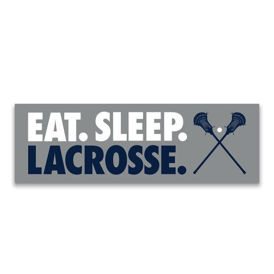 "Guys Lacrosse 12.5"" X 4"" Removable Wall Tile - Eat Sleep Lacrosse"