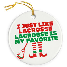 Guys Lacrosse Porcelain Ornament - Lacrosse's My Favorite