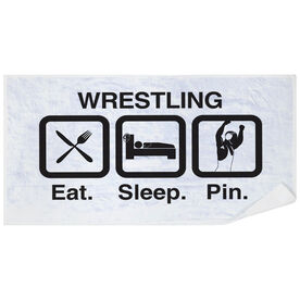 Wrestling Premium Beach Towel - Eat Sleep Pin