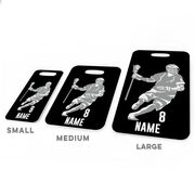 Guys Lacrosse Bag/Luggage Tag - Personalized Dodger Silhouette