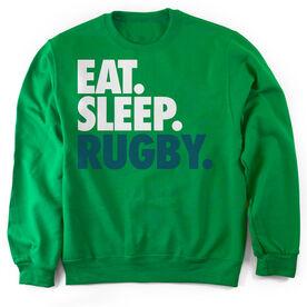 Rugby Crew Neck Sweatshirt Eat. Sleep. Rugby.
