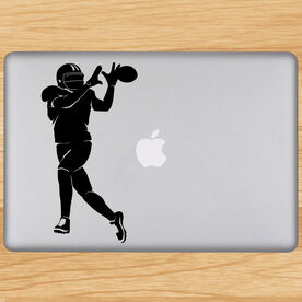 Football Wide Receiver Silhouette Removable ChalkTalkGraphix Laptop Decal
