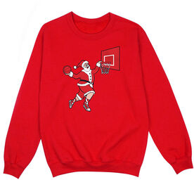 Basketball Crew Neck Sweatshirt - Slam Dunk Santa