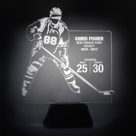 Hockey Acrylic LED Lamp Player Stats