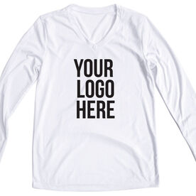 Women's Customized White Long Sleeve Tech Tee Your Logo